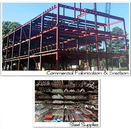 Commercial Fabrication and Erection, Residential Fabrication, Steel Supplies